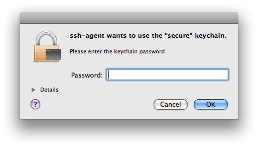 secure keychain dialog