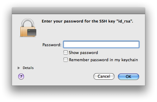 SSH Leopard dialog